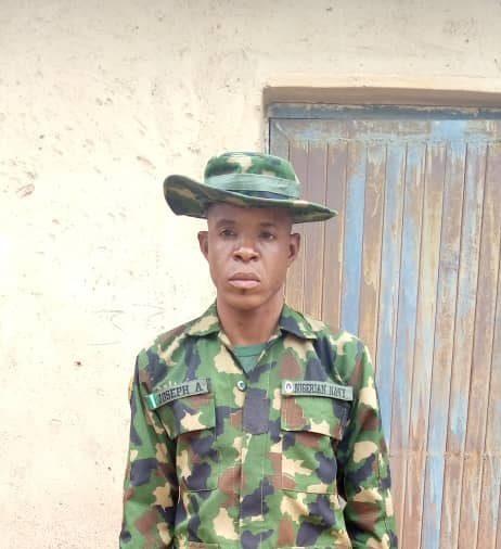 Nasiru Ahmed, a fake Naval Officer