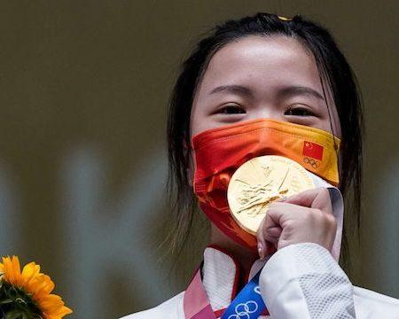 Qian Yang of China wins Olympic gold in shooting