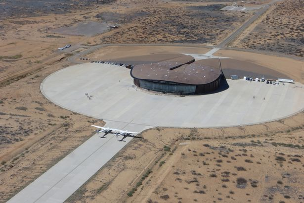 Space Port New Mexico where VSS Unity will take off