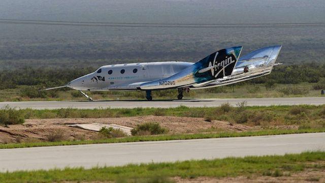 VSS Unity on landing on Earth