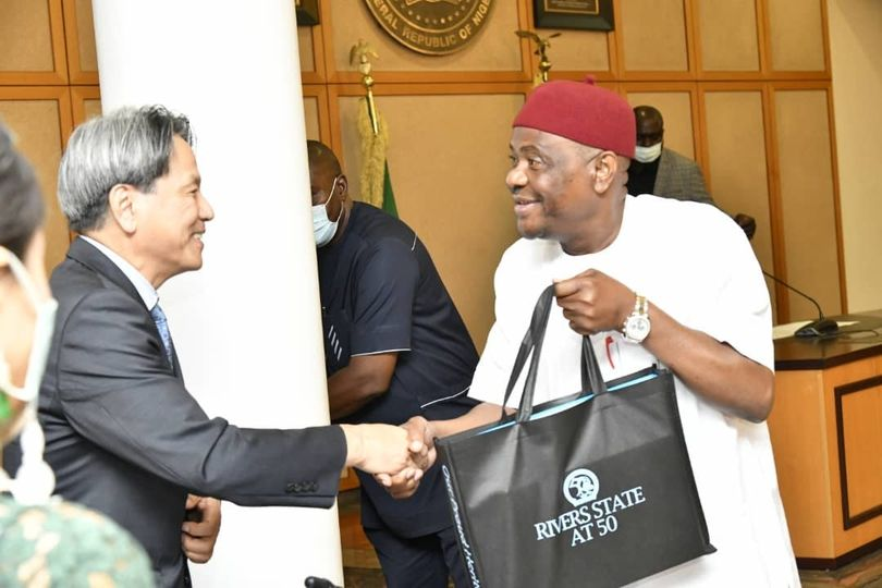 Wike and The Ambassador of the Republic of Korea to Nigeria, Kim Young-Chae
