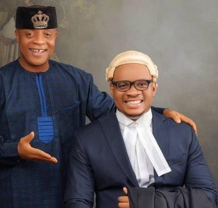Bright Chimezie and son, Chukwudi