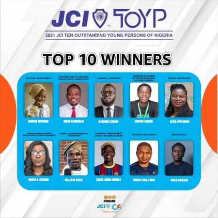 Ten honorees for the JCI TOYP award