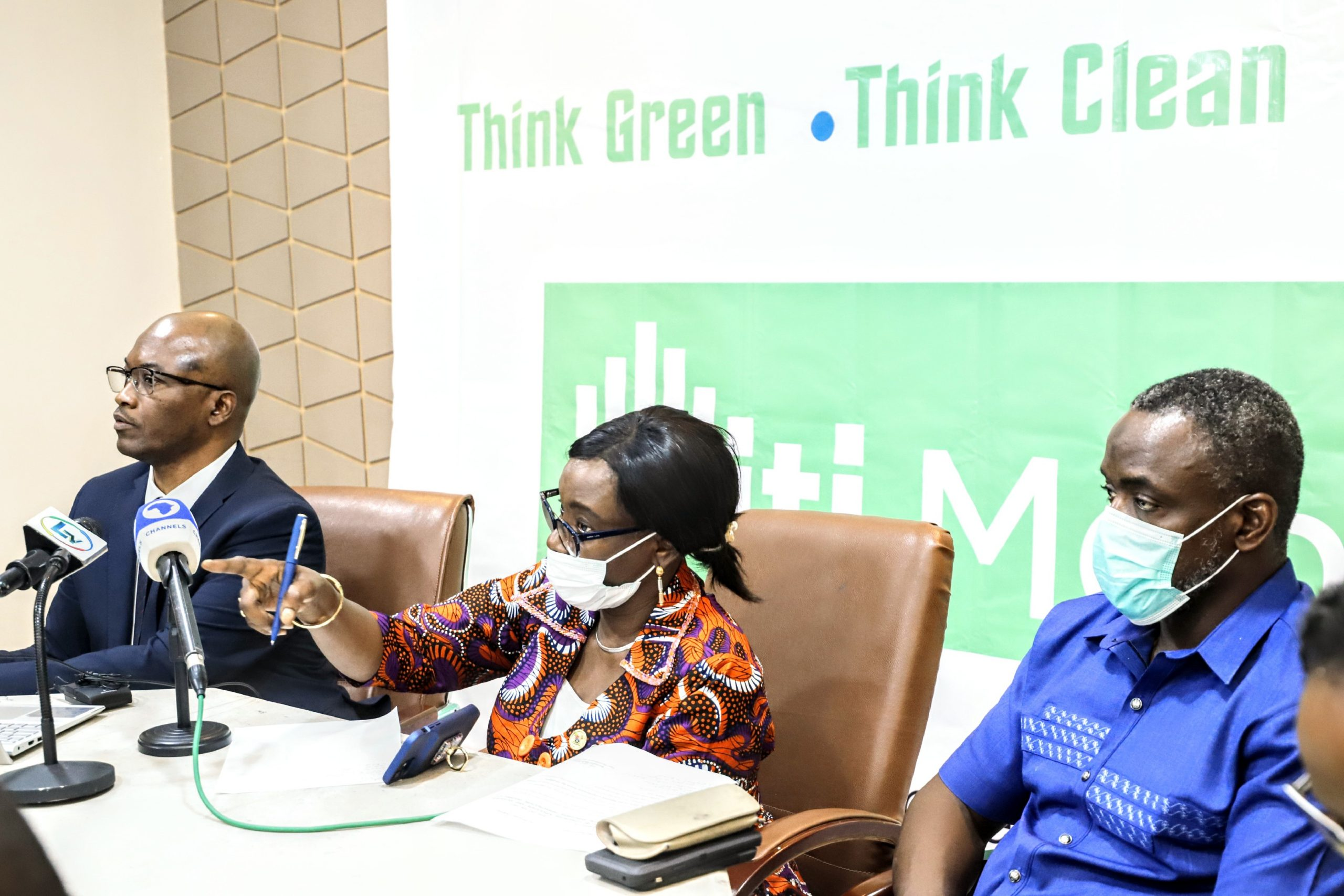 Mrs Belinda Odeneye permanent secretary Ministry of Environment at the launch of Citi Monitor App
