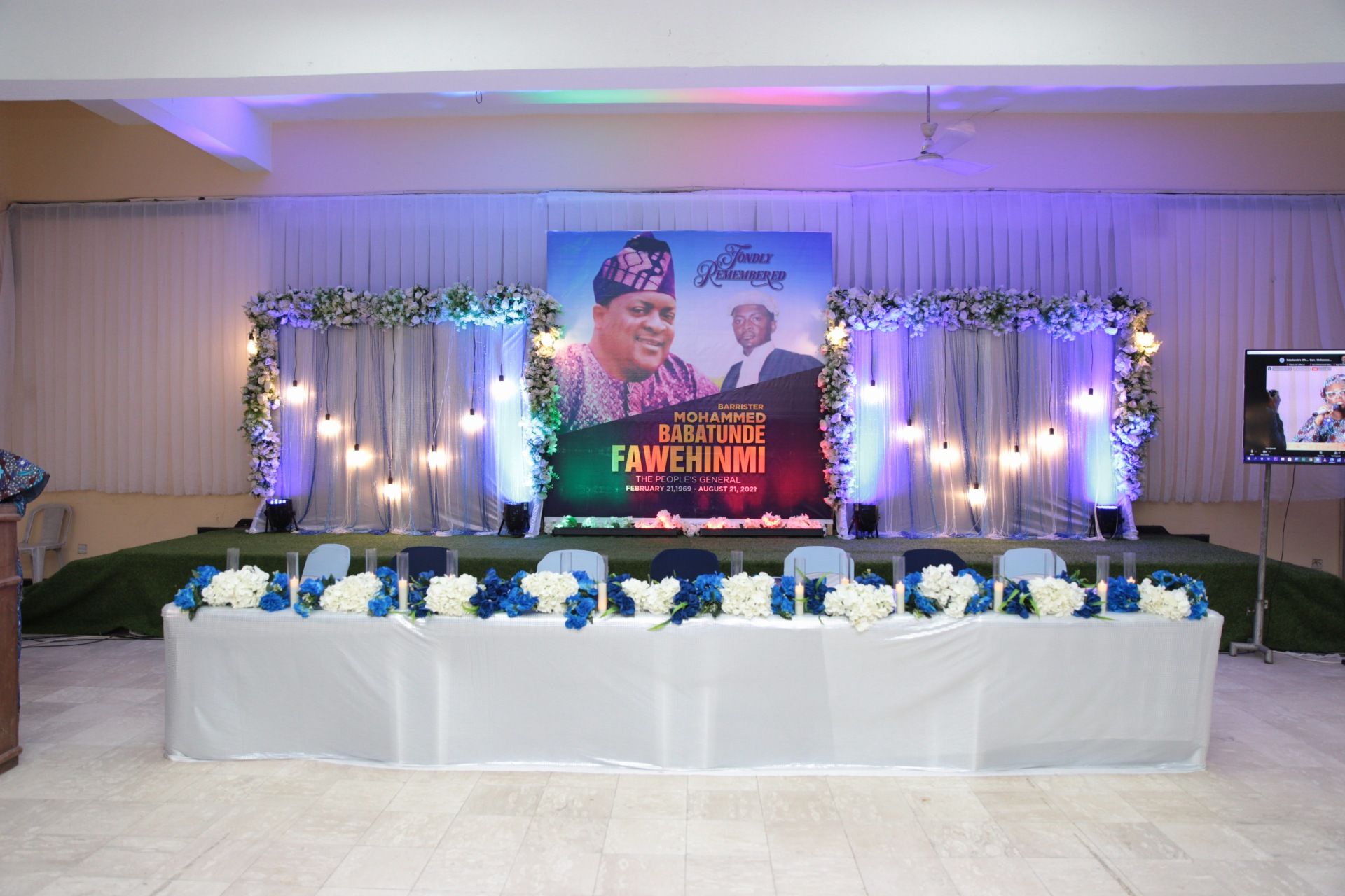 Night of tribute of late Barrister Mohammed Babatunde Fawehinmi