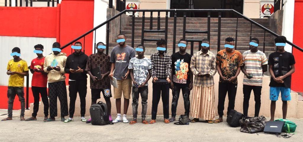 EFCC Arrests 13 Suspected Internet Fraudsters in Abuja