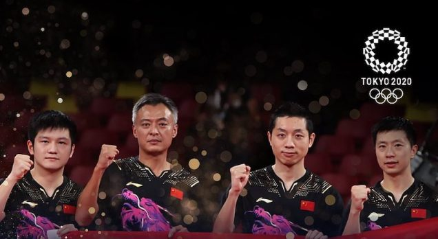 Team China wins Olympic tennis gold