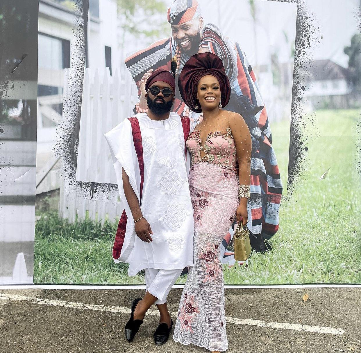 Noble Igwe and wife #KDLagos2021
