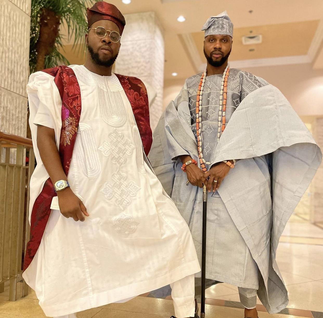Prince Bukunyi Olateru-Olagbegi and the groom #KDLagos2021