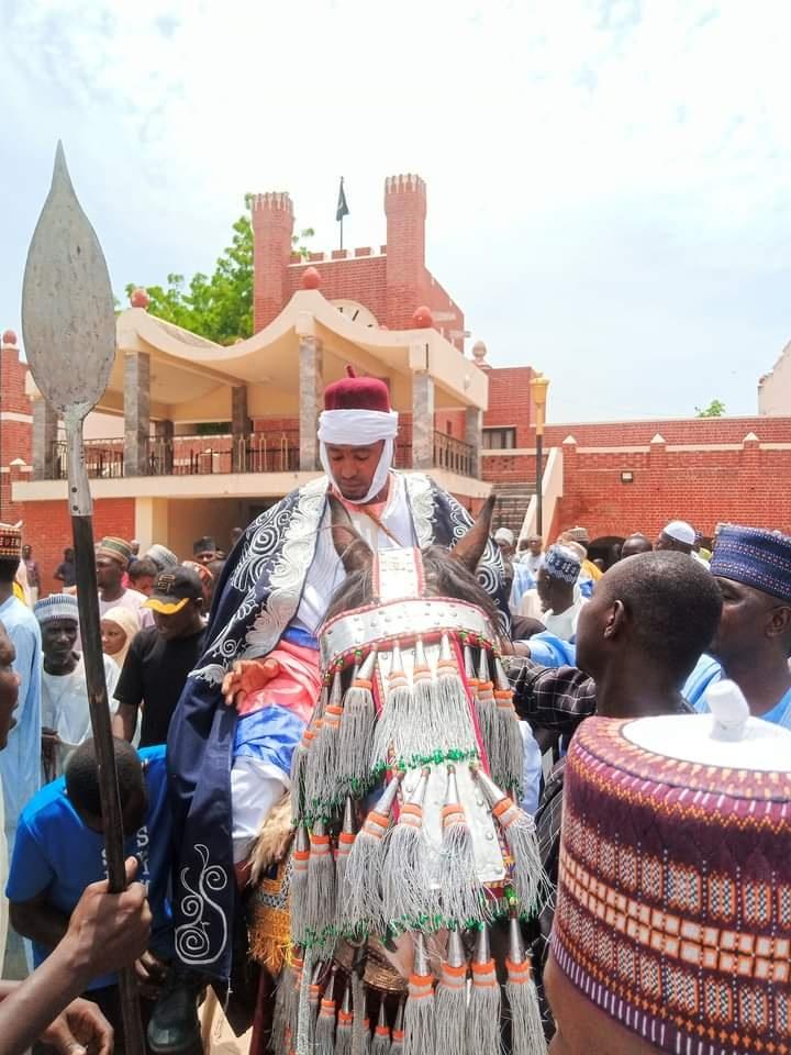 Adam Harun after he was turbaned by the Shehu of Borno