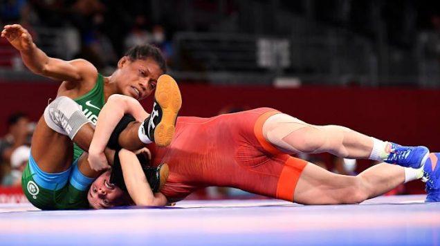 Adijat Idris loses 50kg freestyle wrestling