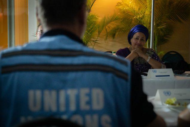 Amina Mohammed in Haiti