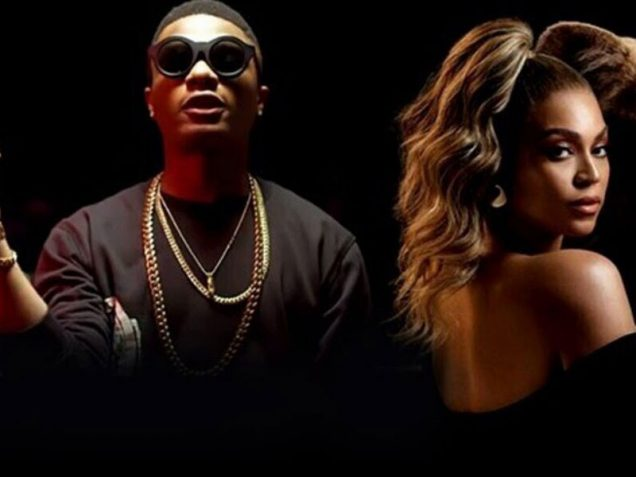 Wizkid and Beyonce in Brown Skin Girl video
