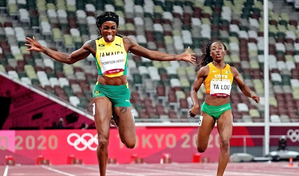 Elaine Thompson-Herah wins 200m gold
