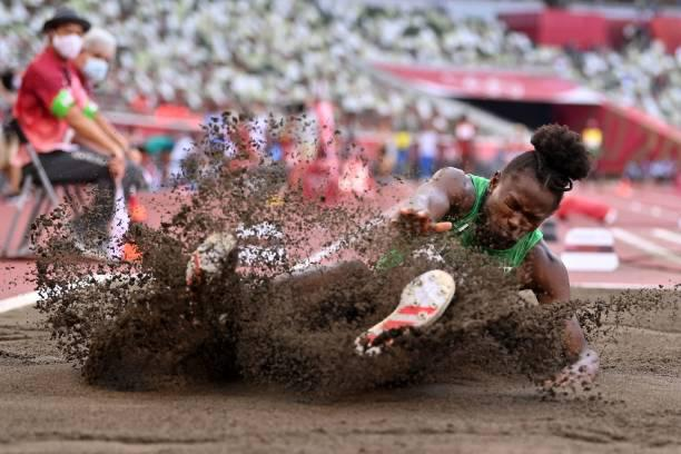 Ese Brume into Olympic finals in long jump
