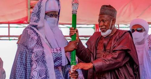 Ganduje presents staff of office to Emir of Bichi