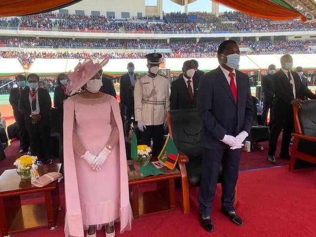 Hichilema and his wife