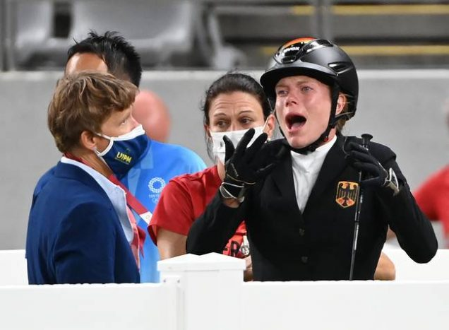 Kim Raisner: German coach thrown out of Tokyo Olympics for punching horse