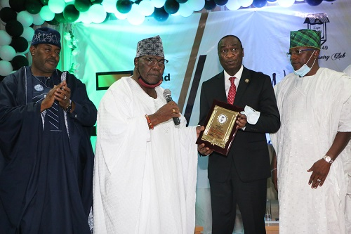 L-R: Chairman, Lagos State Universal Basic Education Board, Hon. Wahab Alawiye King; Chairman, Lagos Country Club, Board of Trustees, Aare Kola Oyefeso; Deputy Governor, Dr. Kadri Obafemi Hamzat and Commissioner for Local Government and Community Affairs, Hon. Wale Ahmed at a lecture organized to mark the 72nd Anniversary of the Lagos Country Club, Ikeja held at the Club premises in GRA, Ikeja.