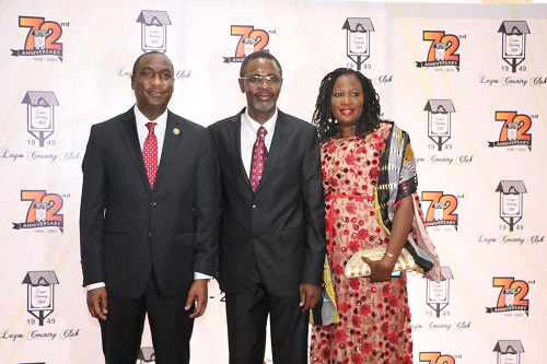 L-R: Deputy Governor, Dr. Kadri Obafemi Hamzat; President, Lagos Country Club, Arc. Funmi Bamkole and Wife of President, Lagos Country Club, Mrs. Biola Bamkole at a lecture organized to mark the 72nd Anniversary of the Lagos Country Club, Ikeja held at the Club premises in GRA, Ikeja.