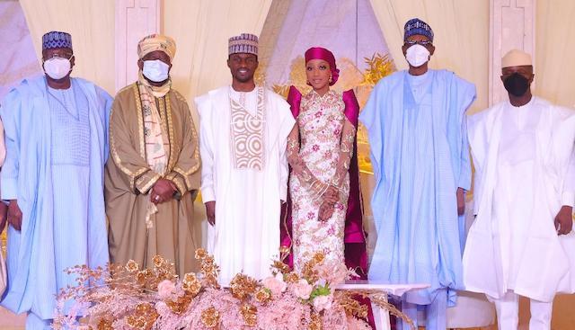 Lawan, Emir of Bichi, Nasiru Bayero Mr and Mrs Yusuf Buhari, President Buhari and VP Yemi Osinbajo