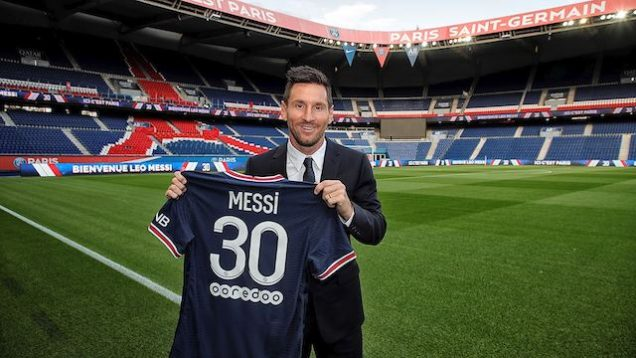 Leo Messi is No.30 at PSG