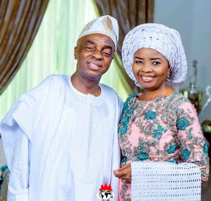 Bishop Oyedepo and his wife
