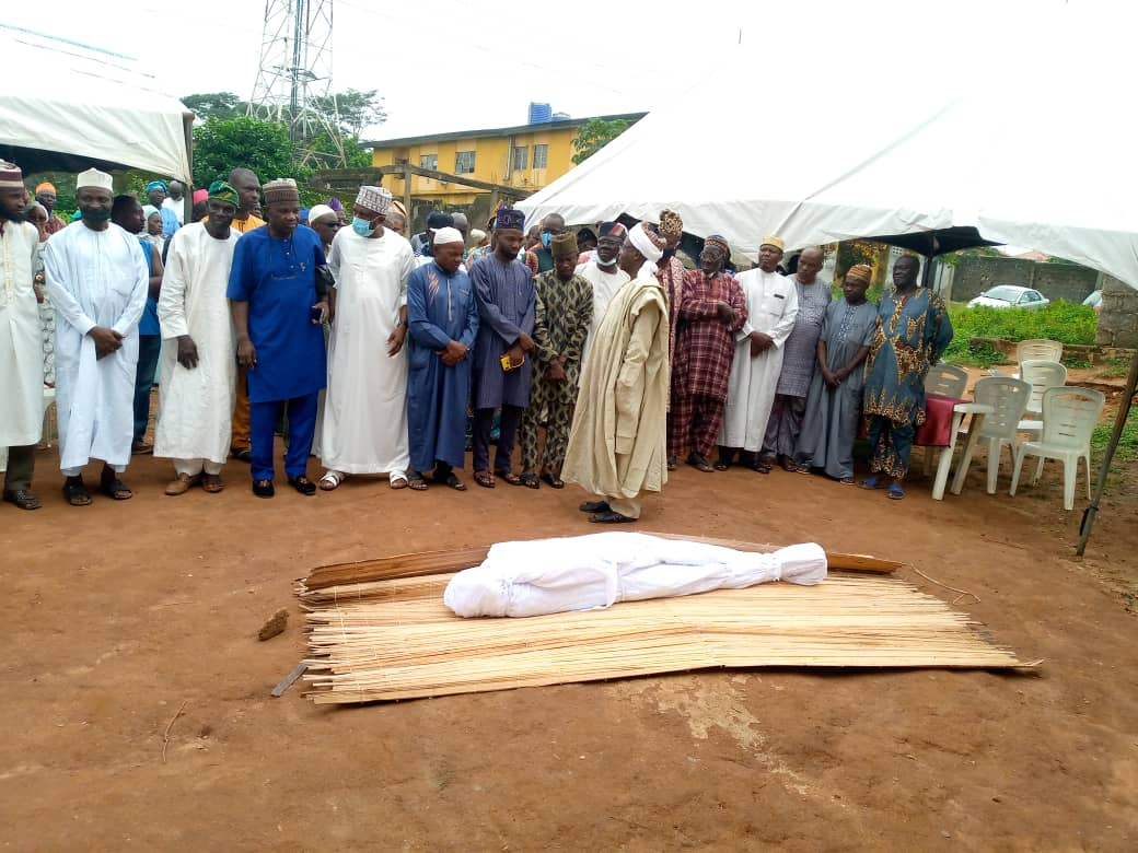 At the funeral prayer for Oropo in Ijebu Ode today