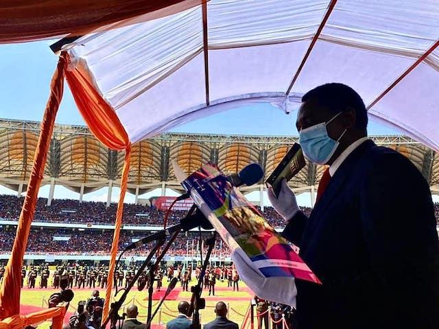 President Hakainde Hichilema swears with the Bible