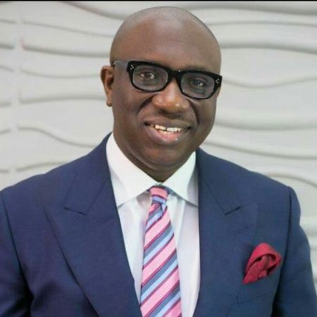 Sam Egube. Commissioner for Economic Planning and Budget