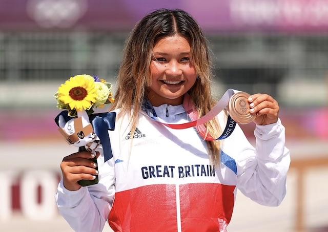 Sky Brown Britain's 13 year-old Tokyo Olympic medallist