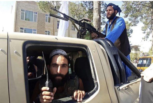 Taliban fighters on the move- Photo Al Jazeera