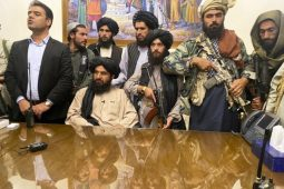 Taliban in the presidential palace in Kabul Afghanistan