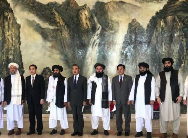 Taliban with Chinese officials last week
