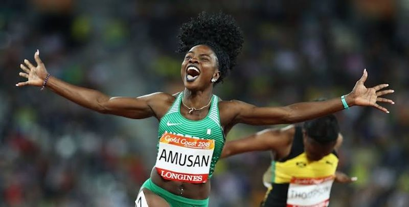 Tobiloba Amusan hailed by sports minister Dare for her efforts in 100m hurdles