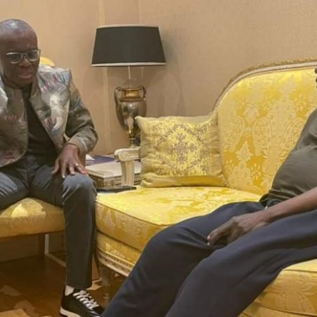 Sanwo-Olu visits Tinubu in London
