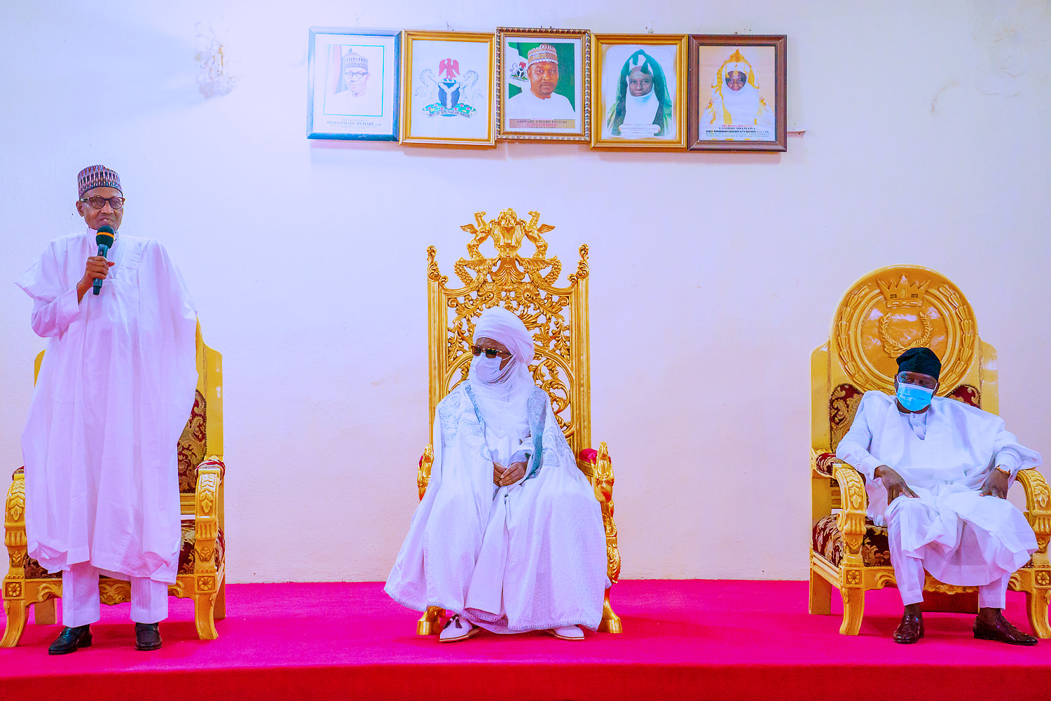 Buhari hits Adamawa to condole with emirate over loss of Joda, two others