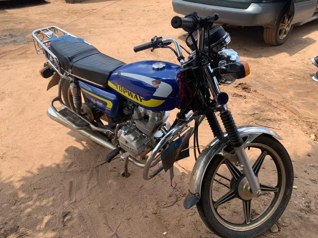 motorcycle found at hideout of the suspected kidnappers