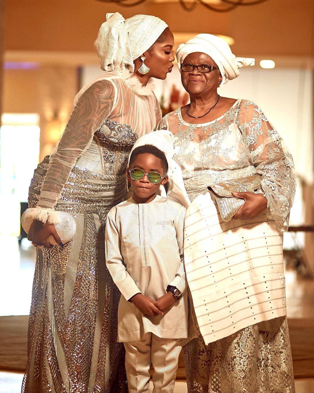 Tiwa Savage, Jamal and her mother Cecilia Savage