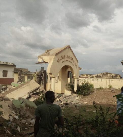 Demolished Sola Saraki Library in Ilorin
