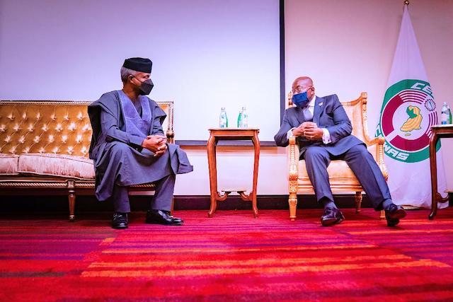 Osinbajo being welcomed by President Akufo-Addo