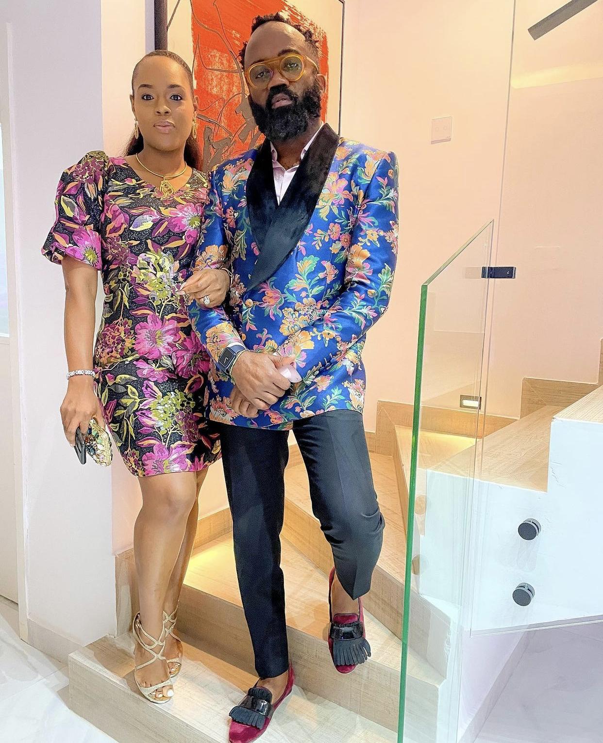 Noble Igwe and wife