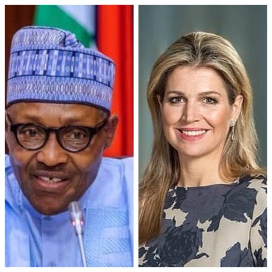 President Buhari and Queen Maxima of Netherlands