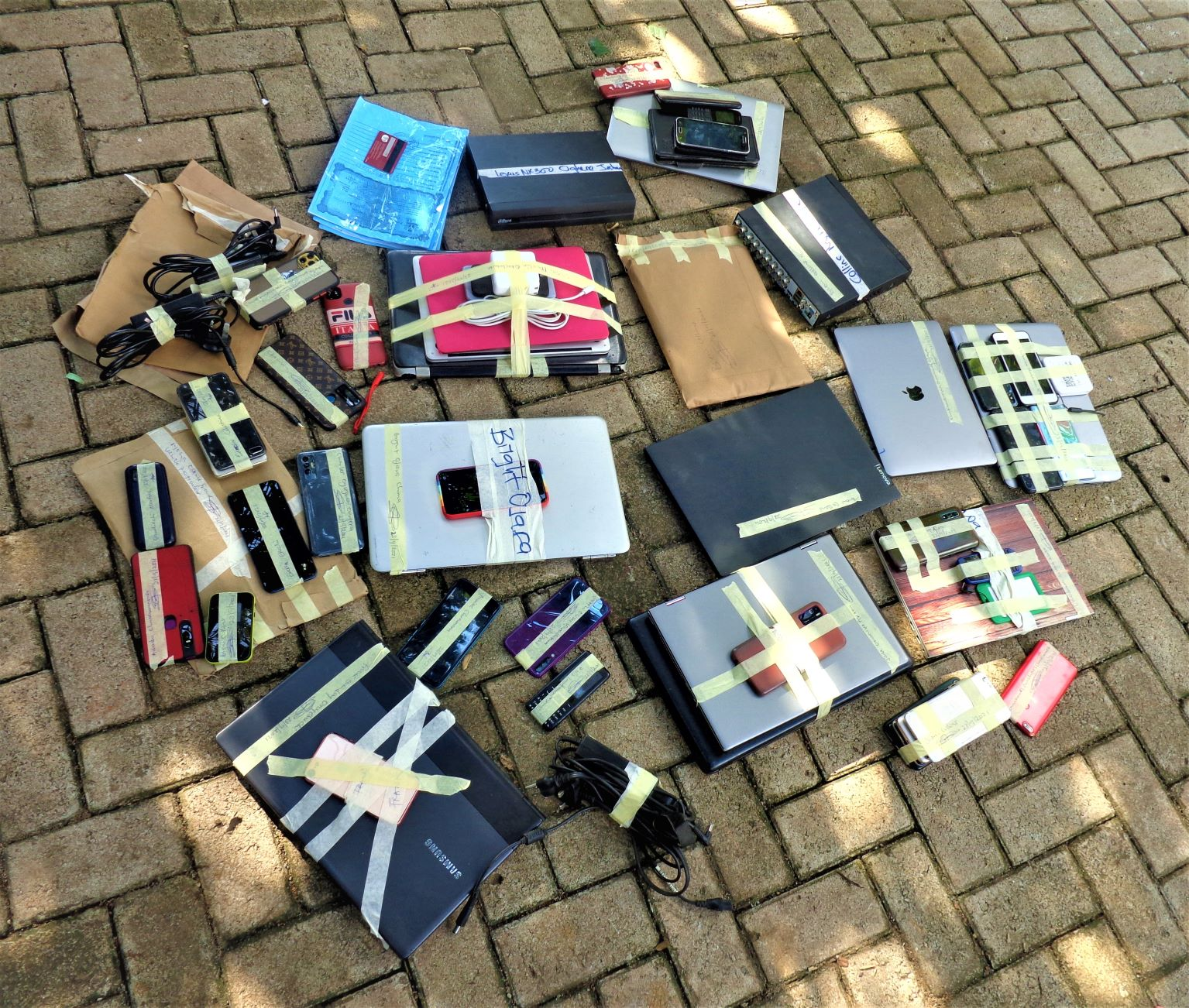 Items recovered from suspects