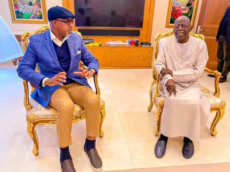 Tinubu having lovely time with Abiodun in London