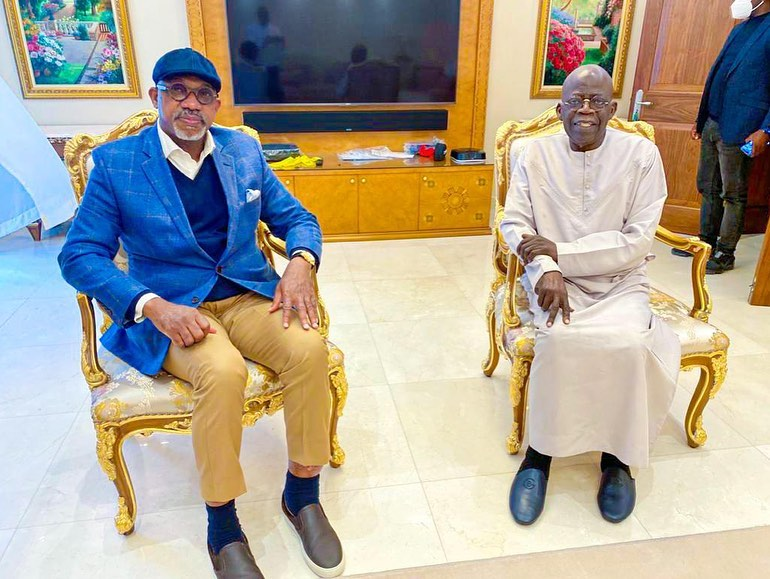 Ogun governor with Tinubu in London