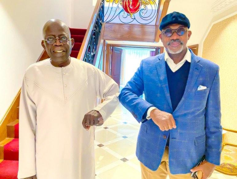 Tinubu exchanges greeting with Ogun governor