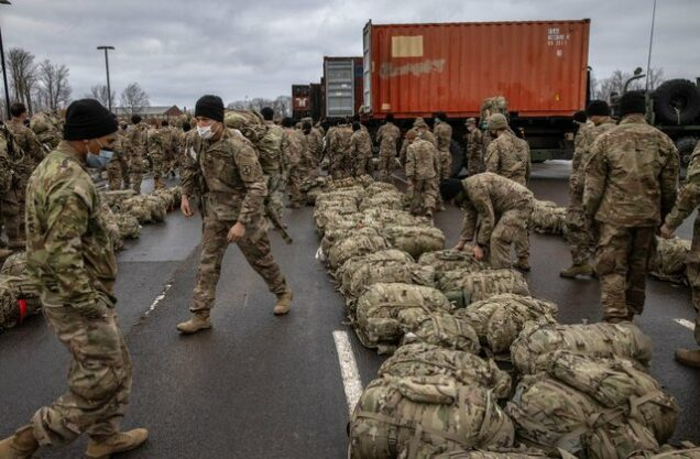 American soldiers in Afghanistan before the August withdrawal