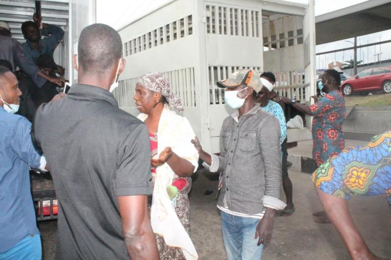 One of the beggars arrested