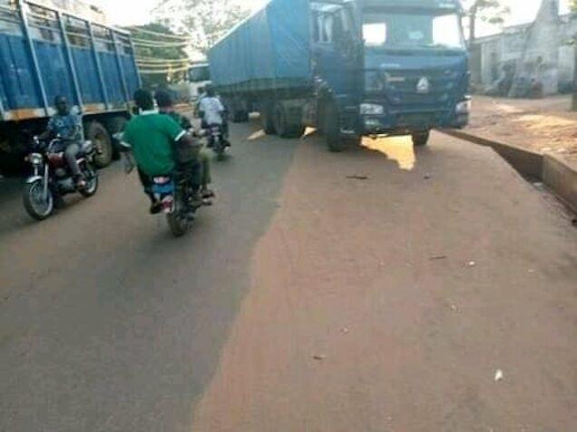 Bida Blockade by truck drivers